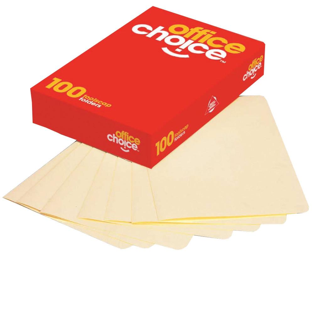 Office Choice Manilla Folders Foolscap Buff Box Of 100