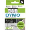 Dymo D1 Label Cassette Tape 12mmx7m Black on Clear