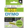 Dymo D1 Label Cassette Tape 12mmx7m Black on Yellow