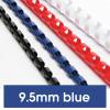 Rexel Plastic Binding Comb 9.5mm 65 Sheet Capacity Blue Pack of 100