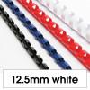 Rexel Plastic Binding Comb 12.5mm 95 Sheet Capacity White Pack of 100