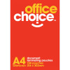 Office Choice Laminating Pouches A4 125 micron Pack of 100