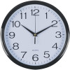 Italplast Wall Clock 43cm Round With Large Numbers Black Frame White Face