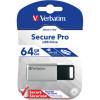 Verbatim Store 'n' Go Encrypted USB Drive 3.0 64GB Silver