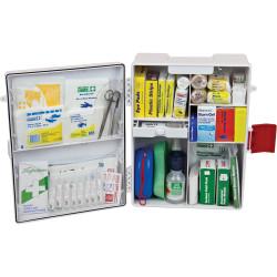 Trafalgar Workplace First Aid Kit Wall Mount Plastic Case White