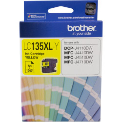 Brother LC-135XLY High Yield Ink Cartridge Yellow