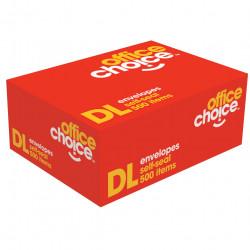 Office Choice Plain Envelope DL Self Seal Secretive White Box Of 500