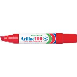 Artline 100 Jumbo Permanent Marker Chisel 12mm Red