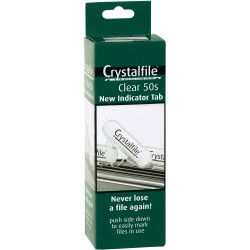 Crystalfile Indicator Tabs Clear Pack Of 50