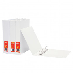 Office Choice Enviro Insert Binder A4 2D Ring 25mm 100% Recycled White