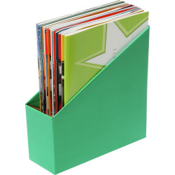 Marbig Book Boxes Small 9Wx25Dx27H cm Green Pack Of 5