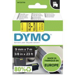 Dymo D1 Label Cassette Tape 9mmx7m Black on Yellow