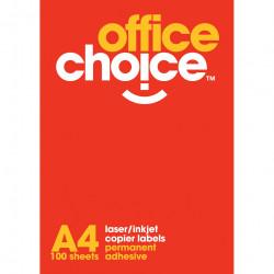 Office Choice Laser Copier & Inkjet Labels 4UP 99.1x139mm