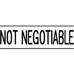 Deskmate Pre Ink Stamp N03 Not Negotiable Black