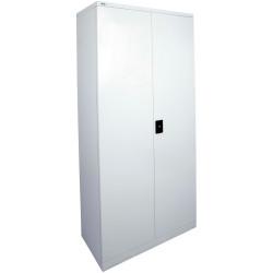 Go Steel Stationery Storage Cupboard 2000Hx910Wx450mmD Silver Grey