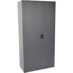 Go Steel Stationery Storage Cupboard 1830Hx910Wx450mmD Graphite Ripple