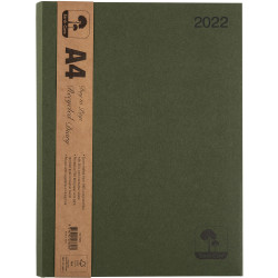 Cumberland Earthcare Diary A4 Day To Page Green