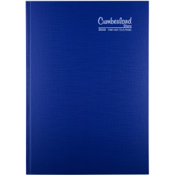 Cumberland Premium Diary A4 Day To Page Blue