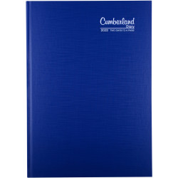 Cumberland Premium Diary A4 2 Days To Page Blue