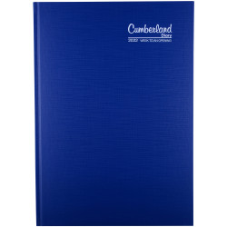 Cumberland Premium Diary A4 Week To View Blue
