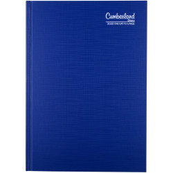 Cumberland Premium Diary A5 Day To Page Blue