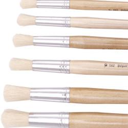Jasart Hog Bristle Series 582 Round Brushes Size 10 Pack Of 12