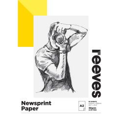Reeves Newsprint Pad A2 48gsm 50 Sheet