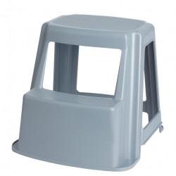 JASTEK PLASTIC STEP STOOL Plastic 2 Step Grey